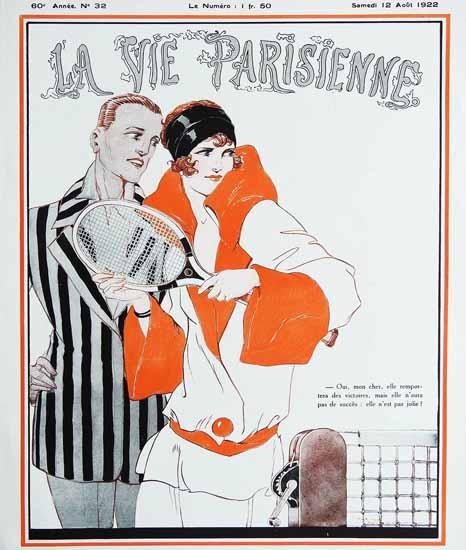 Roaring Twenties 1920s La Vie Parisienne 1922 Aout 12   Roaring 1920s Ad Art and Magazine Cover Art