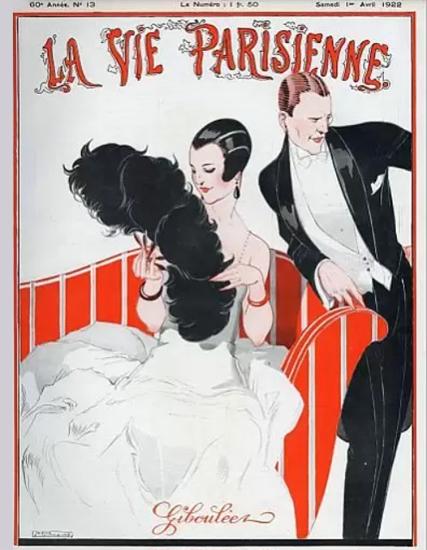 Roaring Twenties 1920s La Vie Parisienne 1922 Gibouleez | Roaring 1920s Ad Art and Magazine Cover Art