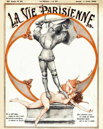 Roaring Twenties 1920s La Vie Parisienne 1922 Juillet 1er | Roaring 1920s Ad Art and Magazine Cover Art