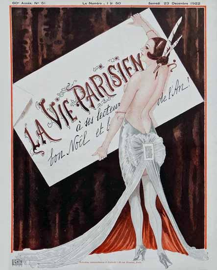 Roaring Twenties 1920s La Vie Parisienne 1922 Noel   Roaring 1920s Ad Art and Magazine Cover Art