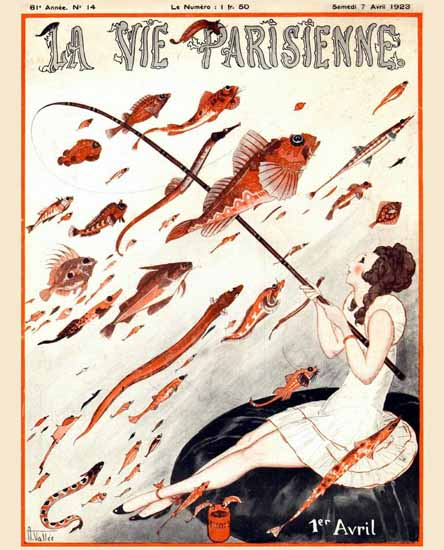 Roaring Twenties 1920s La Vie Parisienne 1923 1er Avril | Roaring 1920s Ad Art and Magazine Cover Art