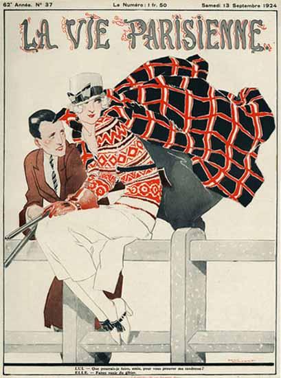 Roaring Twenties 1920s La Vie Parisienne 1924 Lui Et Elle | Roaring 1920s Ad Art and Magazine Cover Art