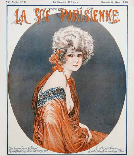 Roaring Twenties 1920s La Vie Parisienne 1925 Mars 14 | Roaring 1920s Ad Art and Magazine Cover Art
