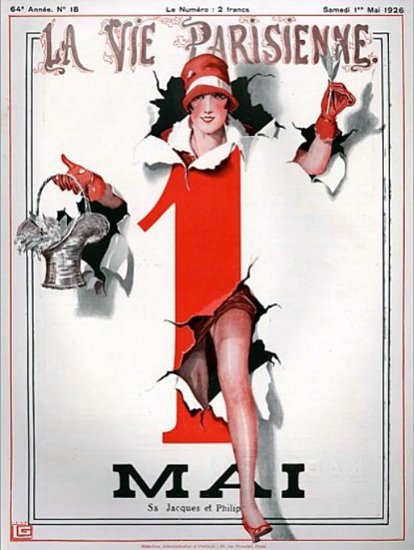 Roaring Twenties 1920s La Vie Parisienne 1926 MAI | Roaring 1920s Ad Art and Magazine Cover Art