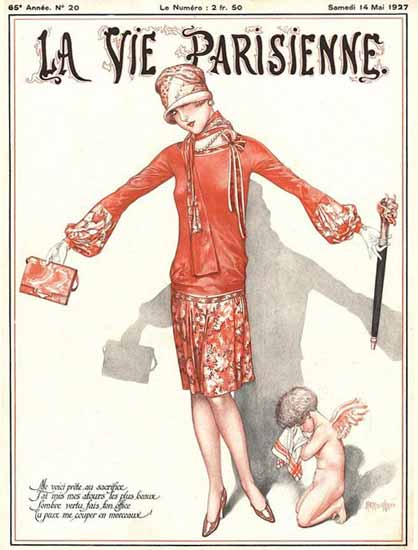 Roaring Twenties 1920s La Vie Parisienne 1927 Mai 14 | Roaring 1920s Ad Art and Magazine Cover Art
