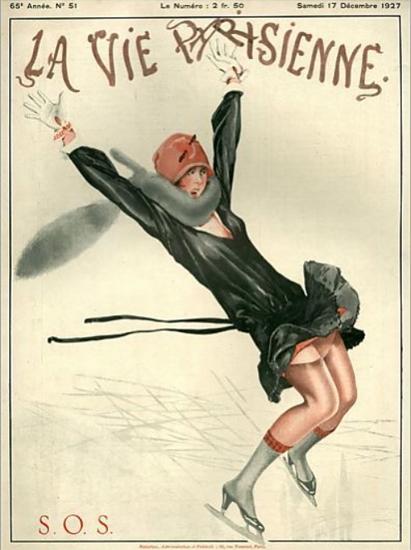 Roaring Twenties 1920s La Vie Parisienne 1927 SOS | Roaring 1920s Ad Art and Magazine Cover Art