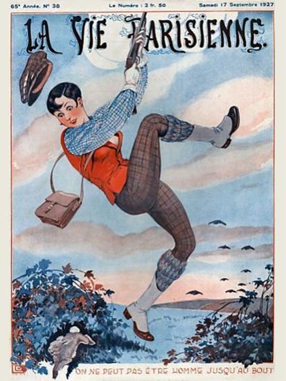 Roaring Twenties 1920s La Vie Parisienne 1927 Septembre 17   Roaring 1920s Ad Art and Magazine Cover Art
