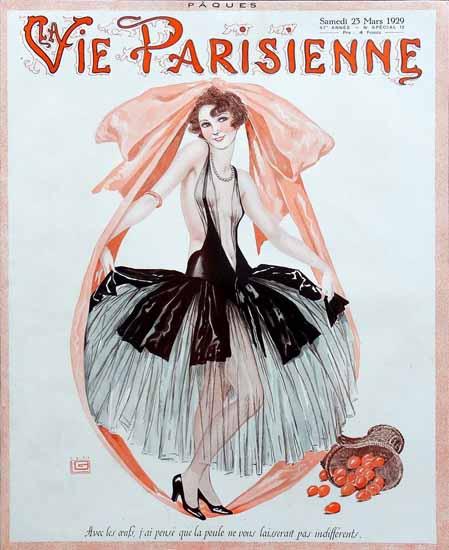 Roaring Twenties 1920s La Vie Parisienne 1929 Les Oeufs | Roaring 1920s Ad Art and Magazine Cover Art