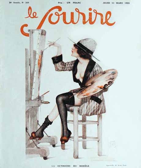 Roaring Twenties 1920s Le Sourire 1924 La Retouche | Roaring 1920s Ad Art and Magazine Cover Art