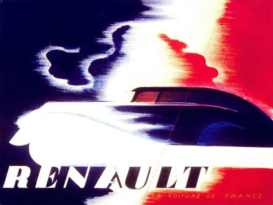 Roaring Twenties 1920s Renault 1925 Tricolor | Roaring 1920s Ad Art and Magazine Cover Art
