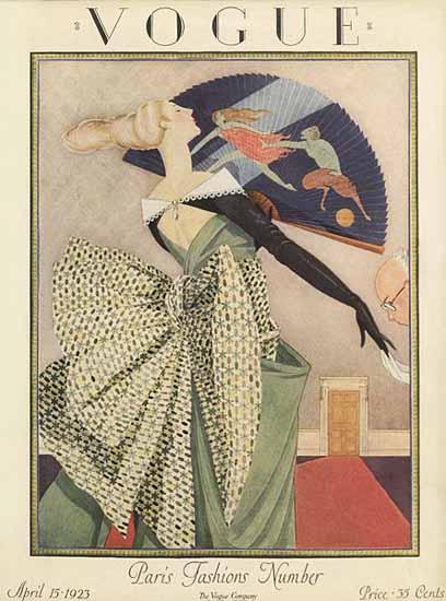 Roaring Twenties 1920s Vogue 1923-04-15 Copyright | Roaring 1920s Ad Art and Magazine Cover Art