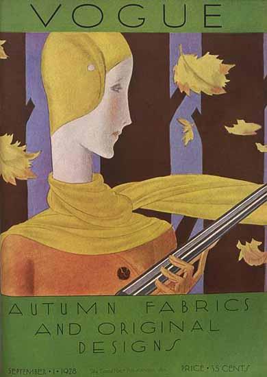 Roaring Twenties 1920s Vogue 1928-09-01 Copyright | Roaring 1920s Ad Art and Magazine Cover Art