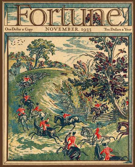 Robert Ball Fortune Magazine November 1933 Copyright   Fortune Magazine Graphic Art Covers 1930-1959