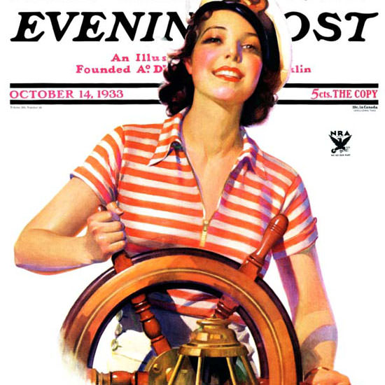 Robert C Kauffmann Saturday Evening Post 1933_10_14 Copyright crop | Best of 1930s Ad and Cover Art