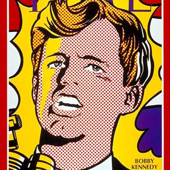 Robert F Kennedy Time Magazine 1968-05 by Roy Lichtenstein crop | Best of Vintage Cover Art 1900-1970