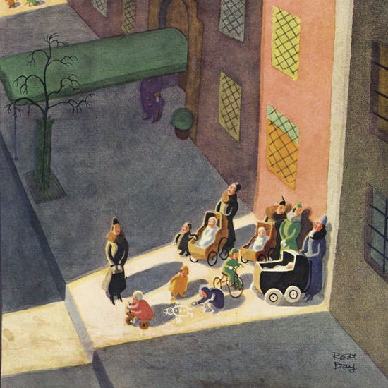 Robert James Day The New Yorker 1935_03_02 Copyright crop | Best of Vintage Cover Art 1900-1970