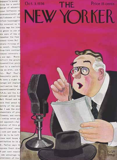 Robert James Day The New Yorker 1936_10_03 Copyright | The New Yorker Graphic Art Covers 1925-1945