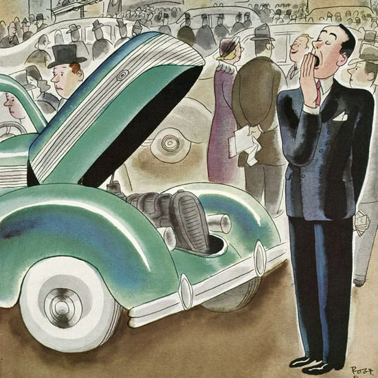 Robert James Day The New Yorker 1937_10_30 Copyright crop | Best of 1930s Ad and Cover Art