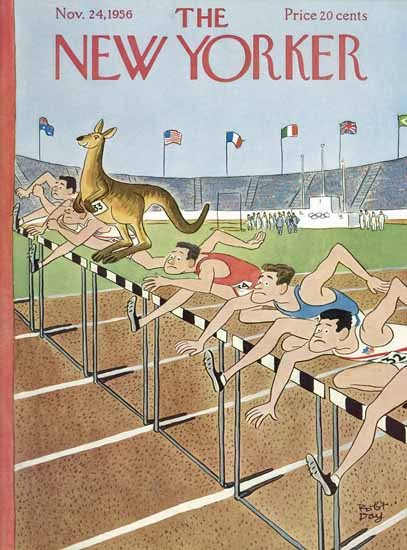 Robert James Day The New Yorker 1956_11_24 Copyright   The New Yorker Graphic Art Covers 1946-1970