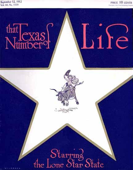 Robert John Wildhack Life Humor Magazine 1912-09-12 Copyright | Life Magazine Graphic Art Covers 1891-1936