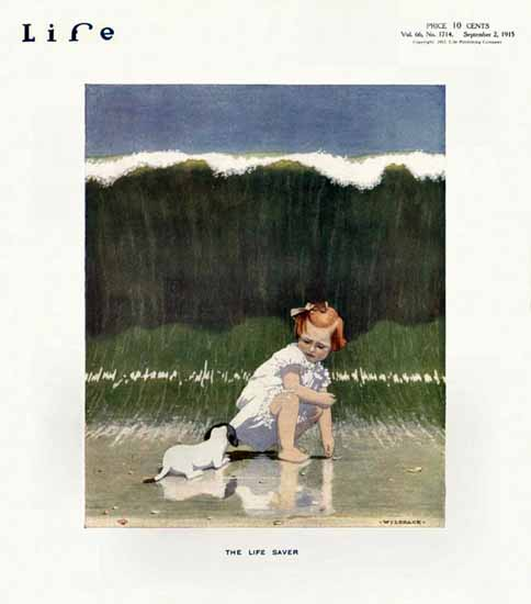 Robert John Wildhack Life Magazine The Life Saver 1915-09-02 Copyright | Life Magazine Graphic Art Covers 1891-1936