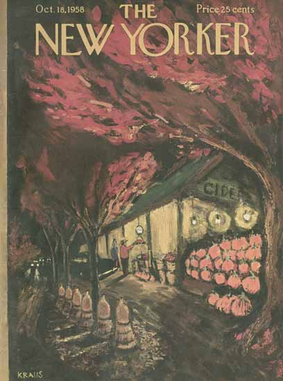 Robert Kraus The New Yorker 1958_10_18 Copyright | The New Yorker Graphic Art Covers 1946-1970