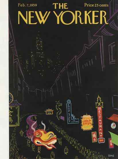 Robert Kraus The New Yorker 1959_02_07 Copyright | The New Yorker Graphic Art Covers 1946-1970
