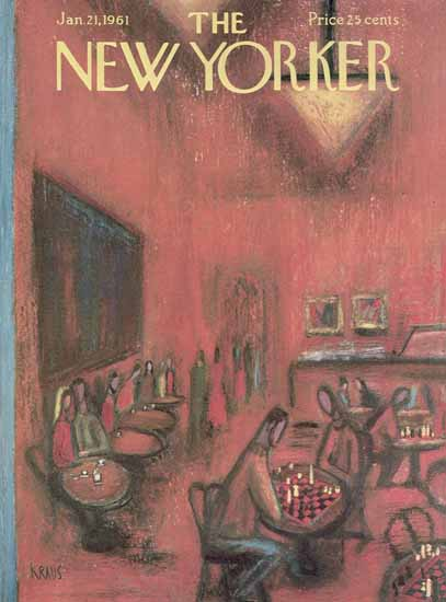 Robert Kraus The New Yorker 1961_01_21 Copyright | The New Yorker Graphic Art Covers 1946-1970