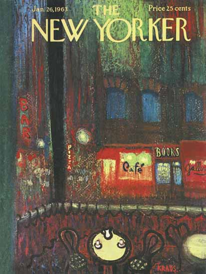 Robert Kraus The New Yorker 1963_01_26 Copyright | The New Yorker Graphic Art Covers 1946-1970