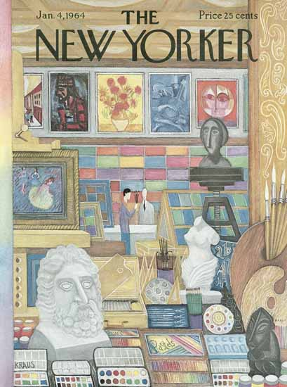 Robert Kraus The New Yorker 1964_01_04 Copyright | The New Yorker Graphic Art Covers 1946-1970