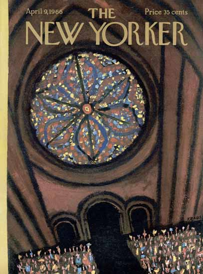 Robert Kraus The New Yorker 1966_04_09 Copyright | The New Yorker Graphic Art Covers 1946-1970