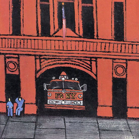 Robert Kraus The New Yorker 1966_05_21 Copyright crop | Best of Vintage Cover Art 1900-1970