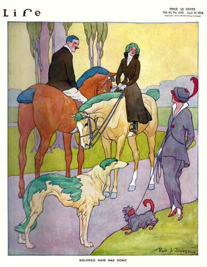 Robert L Dickey Life Humor Magazine 1914-04-23 Copyright   Life Magazine Graphic Art Covers 1891-1936