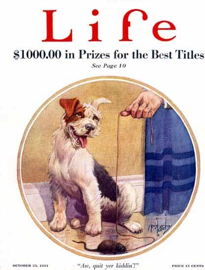 Robert L Dickey Life Humor Magazine 1924-10-23 Copyright | Life Magazine Graphic Art Covers 1891-1936