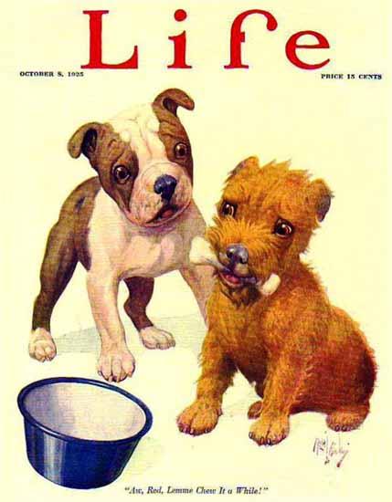 Robert L Dickey Life Humor Magazine 1925-10-08 Copyright | Life Magazine Graphic Art Covers 1891-1936