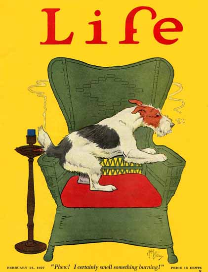 Robert L Dickey Life Humor Magazine 1927-02-24 Copyright | Life Magazine Graphic Art Covers 1891-1936
