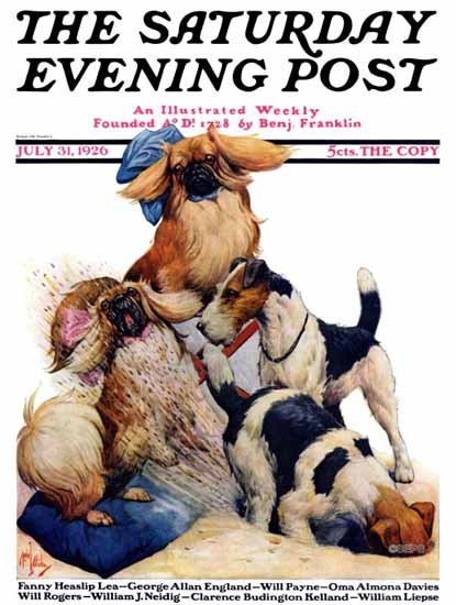 Robert L Dickey Saturday Evening Post Dogs Life 1926_07_31 | The Saturday Evening Post Graphic Art Covers 1892-1930