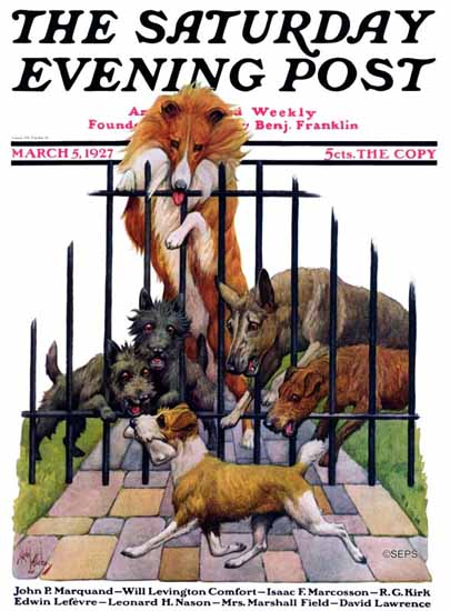 Robert L Dickey Saturday Evening Post Dogs Life 1927_03_05 | The Saturday Evening Post Graphic Art Covers 1892-1930