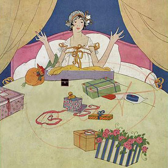 Robert McQuinn Vogue Cover 1915-12-01 Copyright crop | Best of Vintage Cover Art 1900-1970