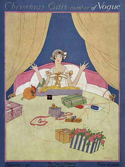 Robert McQuinn Vogue Cover 1915-12-01 Copyright | Vogue Magazine Graphic Art Covers 1902-1958