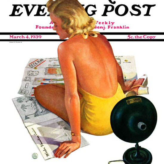 Robert P Archer Saturday Evening Post Lamp 1939_03_04 Copyright crop | Best of 1930s Ad and Cover Art