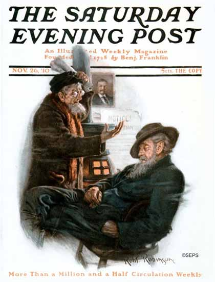 Robert Robinson Cover Artist Saturday Evening Post 1910_11_26 | The Saturday Evening Post Graphic Art Covers 1892-1930