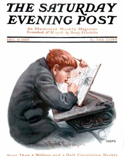 Robert Robinson Cover Artist Saturday Evening Post 1910_12_17 | The Saturday Evening Post Graphic Art Covers 1892-1930