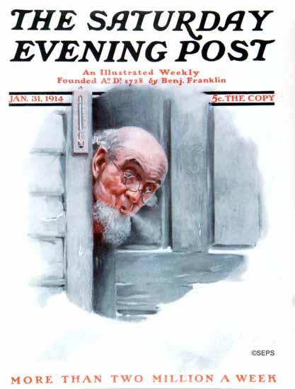 Robert Robinson Cover Artist Saturday Evening Post 1914_01_31 | The Saturday Evening Post Graphic Art Covers 1892-1930