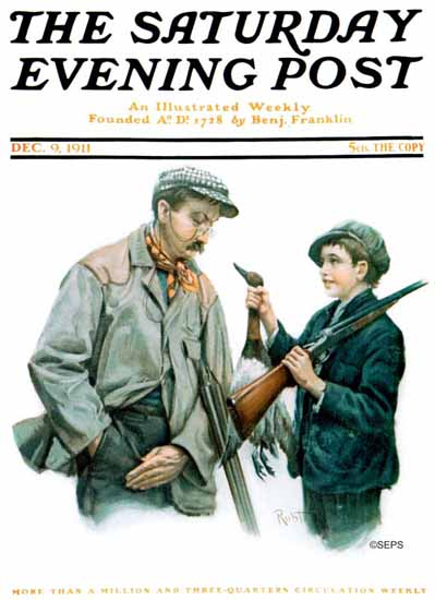 Robert Robinson Saturday Evening Post 1911_12_09 | The Saturday Evening Post Graphic Art Covers 1892-1930