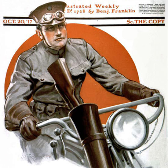 Robert Robinson Saturday Evening Post 1917_10_20 Copyright crop | Best of Vintage Cover Art 1900-1970