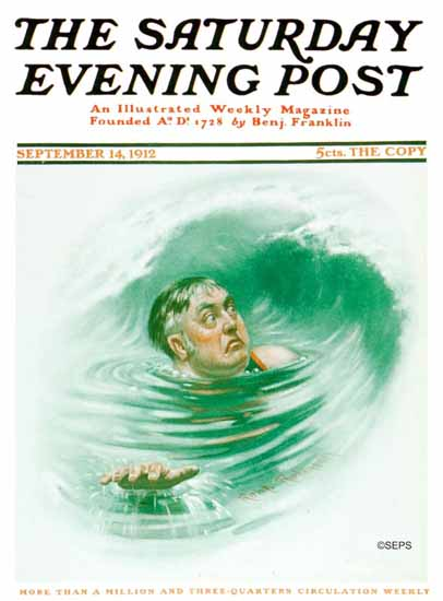 Robert Robinson Saturday Evening Post The Wave 1912_09_14 | The Saturday Evening Post Graphic Art Covers 1892-1930