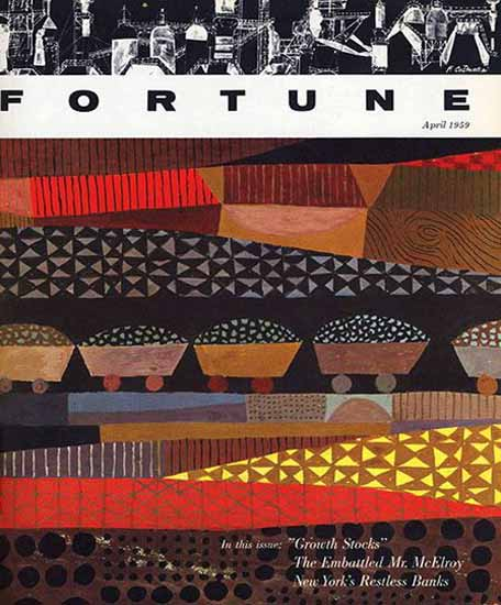 Robert W Wilvers Fortune Magazine April 1959 Copyright | Fortune Magazine Graphic Art Covers 1930-1959