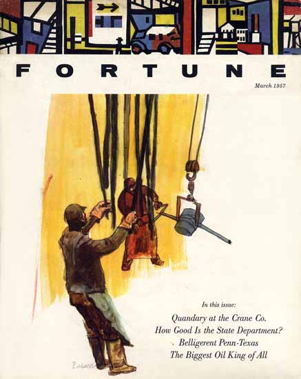 Robert Weaver Fortune Magazine March 1957 Copyright | Fortune Magazine Graphic Art Covers 1930-1959