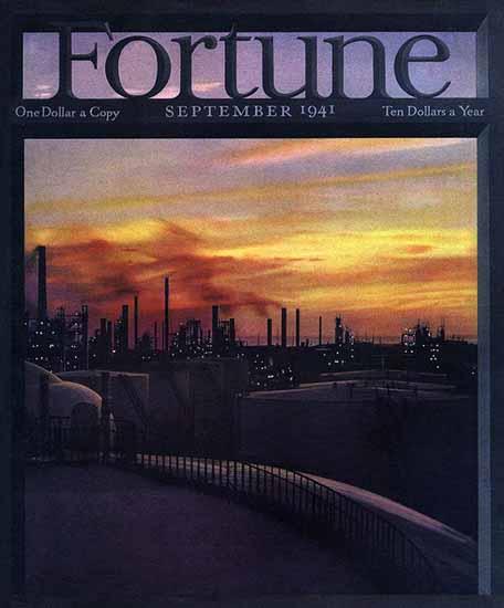 Robert Yarnall Richie Fortune Magazine September 1941 Copyright   Fortune Magazine Graphic Art Covers 1930-1959